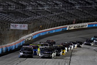 Todd Gilliland, Kyle Busch Motorsports, Toyota Tundra Mobil 1 and Ben Rhodes, ThorSport Racing, Ford F-150