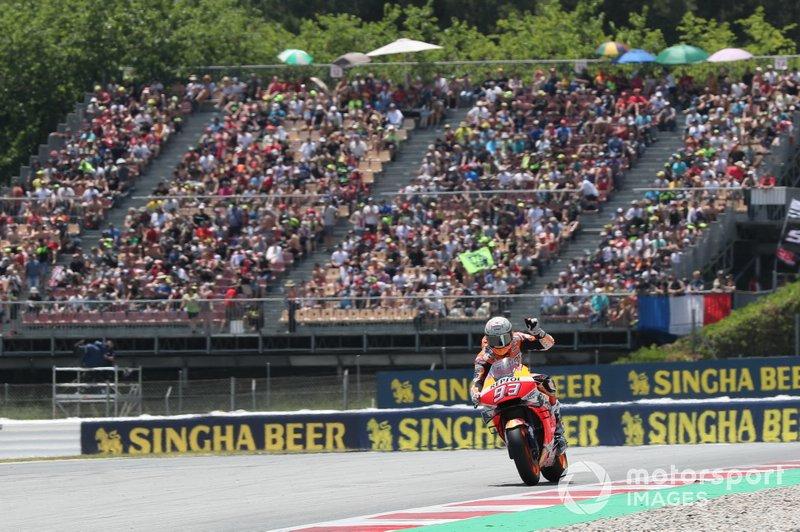 El ganador del GP de Catalunya 2019 de MotoGP, Marc Marquez, Repsol Honda Team