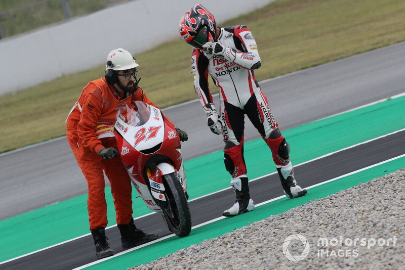 Sturz: Kaito Toba, Honda Team Asia