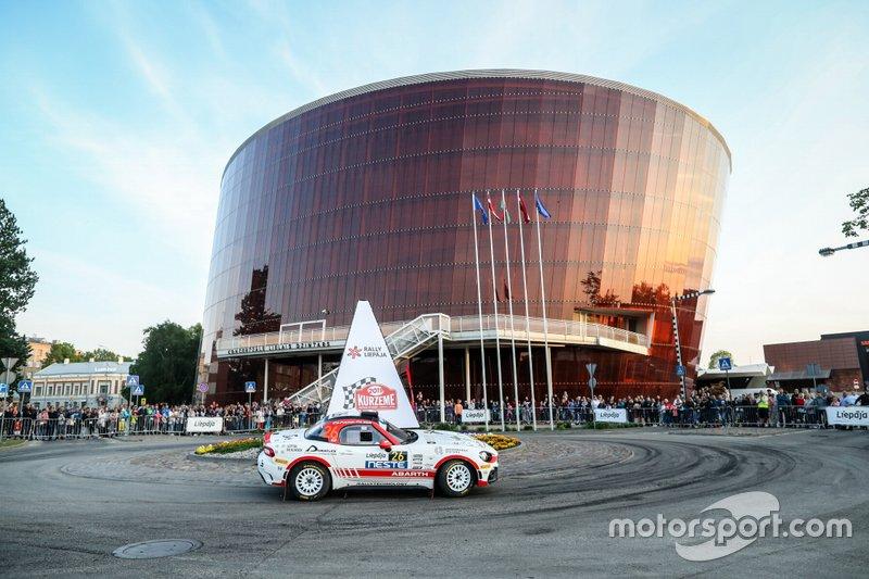 Dariusz Polonski, Lukasz Sitek, Abarth 124 Rally , Rallytechnology, Rally Liepaja, FIA ERC