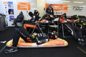 TDS Racing crew members wait