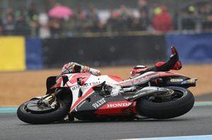 Chute de Takaaki Nakagami, Team LCR Honda