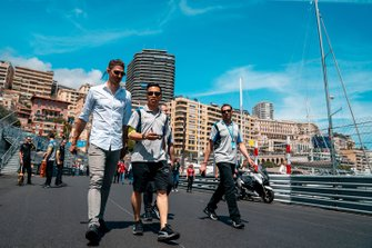Edoardo Mortara, Venturi Formula E, walks the track