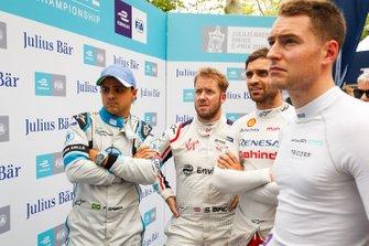 Фелипе Масса, Venturi Formula E Team, Сэм Бёрд, Virgin Racing, Жером д'Амброзио, Mahindra Racing, и Стоффель Вандорн, HWA Racelab