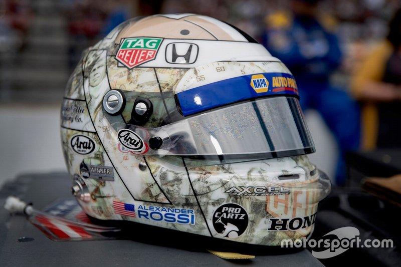 Casco de Alexander Rossi, Andretti Autosport Honda