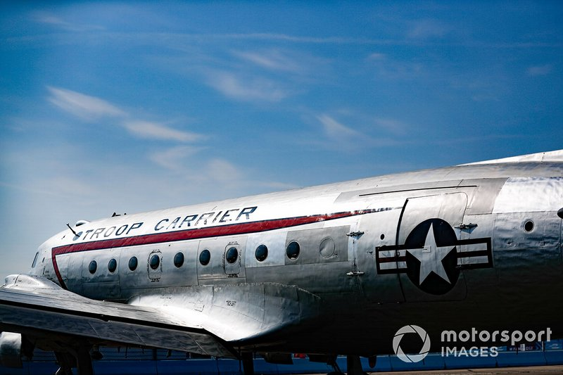 Avión en el ePrix de Berlín