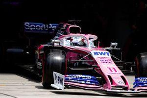 Sergio Perez, Racing Point RP19, quittant son garage