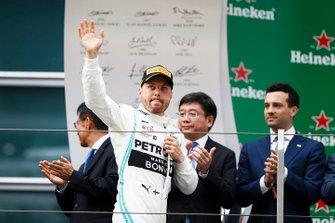Valtteri Bottas, Mercedes AMG F1 celebrates on the podium