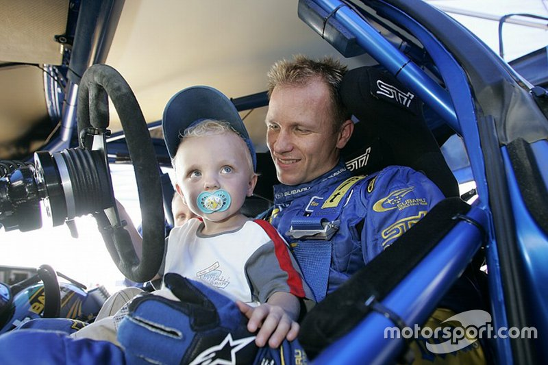 Petter Solberg con il figlio Oliver Solberg