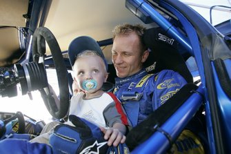 Petter Solberg with son Oliver Solberg