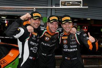 Pole position fpr #63 GRT Grasser Racing Team Lamborghini Huracan GT3 Evo: Mirko Bortolotti, Rolf Ineichen, Christian Engelhart