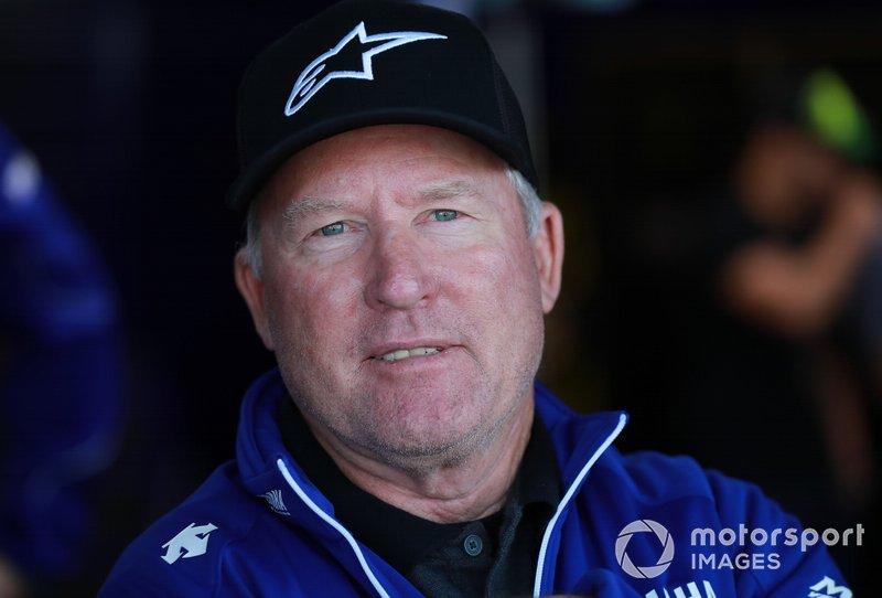 """Kenny Roberts: Randy Mamola y él mismo. """"Yo creo que yo era bueno en lluvia, no perdí muchas carreras en mojado... pero Randy Mamola también fue bueno"""""""