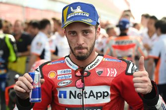 Third place Andrea Dovizioso, Ducati Team celebrate in parc ferme
