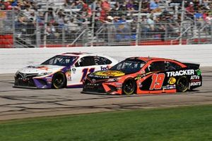 Martin Truex Jr., Joe Gibbs Racing, Toyota Camry Bass Pro Shops, Denny Hamlin, Joe Gibbs Racing, Toyota Camry FedEx Ground
