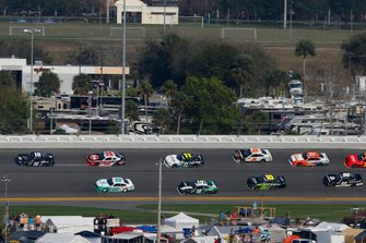 Brandon Jones, Joe Gibbs Racing, Toyota Supra Juniper, Austin Cindric, Team Penske, Ford Mustang MoneyLion and Christopher Bell, Joe Gibbs Racing, Toyota Supra Rheem