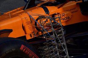 Les capteurs aéro de la McLaren MCL34