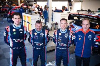 Daniel Elena, Nicolas Gilsoul, Anders Jaeger, Carlos Del Barrio, Hyundai Motorsport