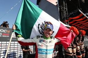 Winner Benito Guerra (MEX) celebrates on the podium