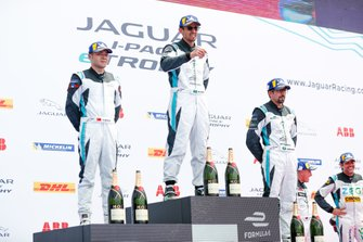 Bandar Alesayi, Saudi Racing, 1st position in Pro-Am, Yaqi Zhang, Team China, 2nd position, Ahmed Bin Khanen, Saudi Racing, 3rd position, on the podium