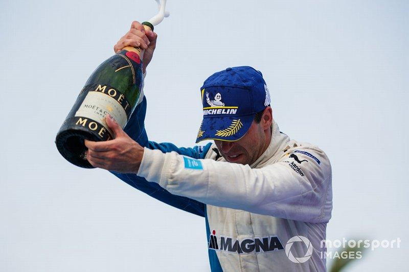 Antonio Felix da Costa, BMW I Andretti Motorsports, celebra en el podio
