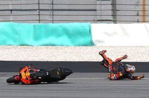 Pol Espargaro, Red Bull KTM Factory Racing crash