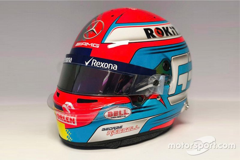 George Russell, Williams Racing, kask tasarımı