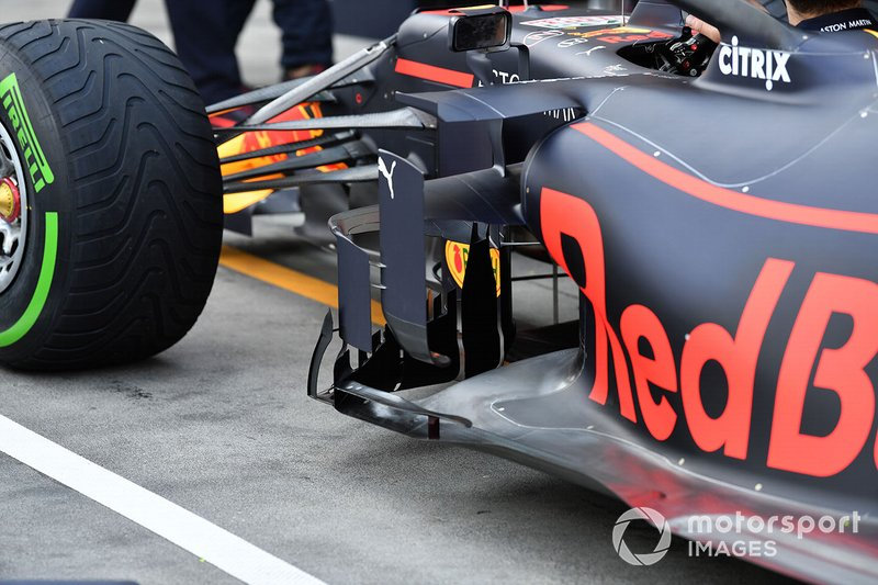 Side detail of the Red Bull Racing RB15