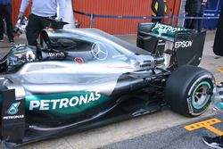 Nico Rosberg, Mercedes AMG F1 W07 rear detail