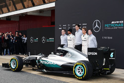 Andy Cowell, Mercedes-Benz High Performance Powertrains Managing Director, Lewis Hamilton, Mercedes