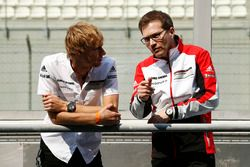 Brendon Hartley, Porsche Team avec Andreas Seidl, Team Principal Porsche Team