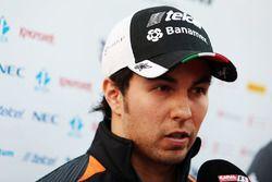 Sergio Pérez, Sahara Force India F1 avec les médias