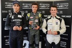Podium: winner Lando Norris, second place Pedro Piquet, third place James Munro
