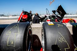 Action Express Racing team area and tires