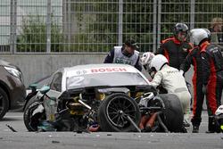 Машина Гэри Паффета после аварии