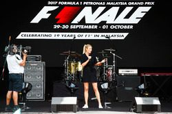 Presentación en el escenario de la F1