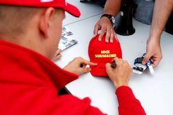 Autograph session, Mick Schumacher, Prema Powerteam, Dallara F317 - Mercedes-Benz