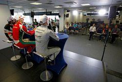 Conférence de presse : Maximilian Günther, Prema Powerteam Dallara F317 - Mercedes-Benz, Jake Hughes, Hitech Grand Prix, Dallara F317 - Mercedes-Benz, Jehan Daruvala, Carlin, Dallara F317 - Volkswagen