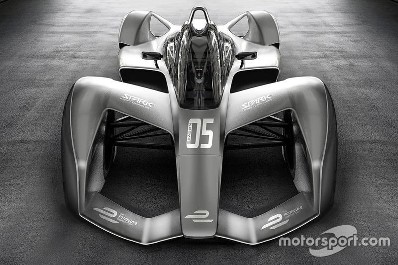 Rendu de la Formule E Spark Racing Technology
