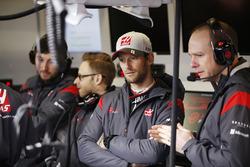 Romain Grosjean, Haas F1 Team avec ses collègues