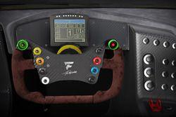 Het stuur van de Fittipaldi EF7 Vision Gran Turismo by Pininfarina