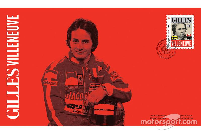 Sello de Correo de Gilles Villeneuve