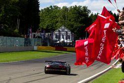 Race winner #25 Audi Sport Team Sainteloc Racing Audi R8 LMS: Markus Winkelhock, Christopher Haase,