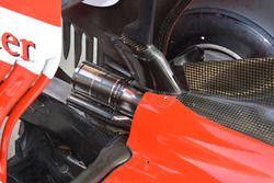 Ferrari SF16-H, lo scarico