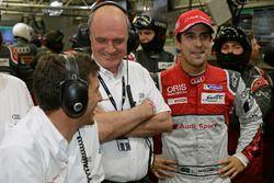 Loïc Duval, Dr. Wolfgang Ullrich, Lucas di Grassi, Audi Sport Team Joest