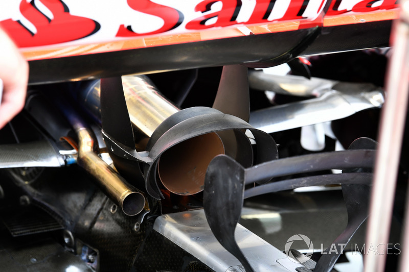 Ferrari SF70H exhaust detail