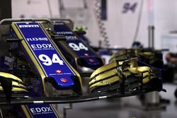 The nose and front wing detail of Pascal Wehrlein, Sauber C36