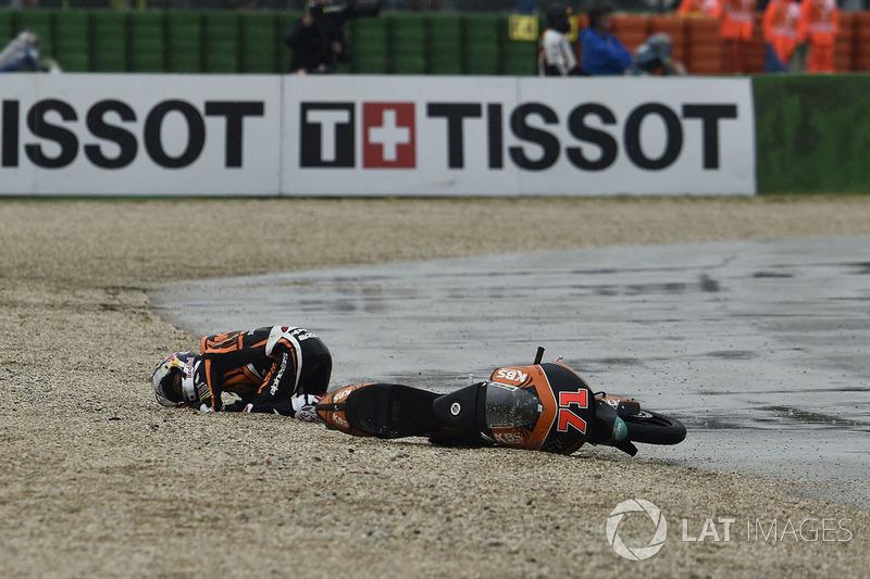 Tatsuki Suzuki, SIC58 Squadra Corse, caída