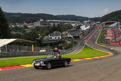 Marcus Ericsson, Sauber, lors de la parade des pilotes
