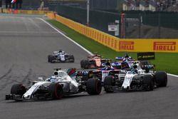 Felipe Massa, Williams FW40 and Lance Stroll, Williams FW40