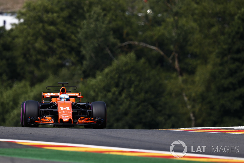 Fernando Alonso eventually retires, after a weather enquiry